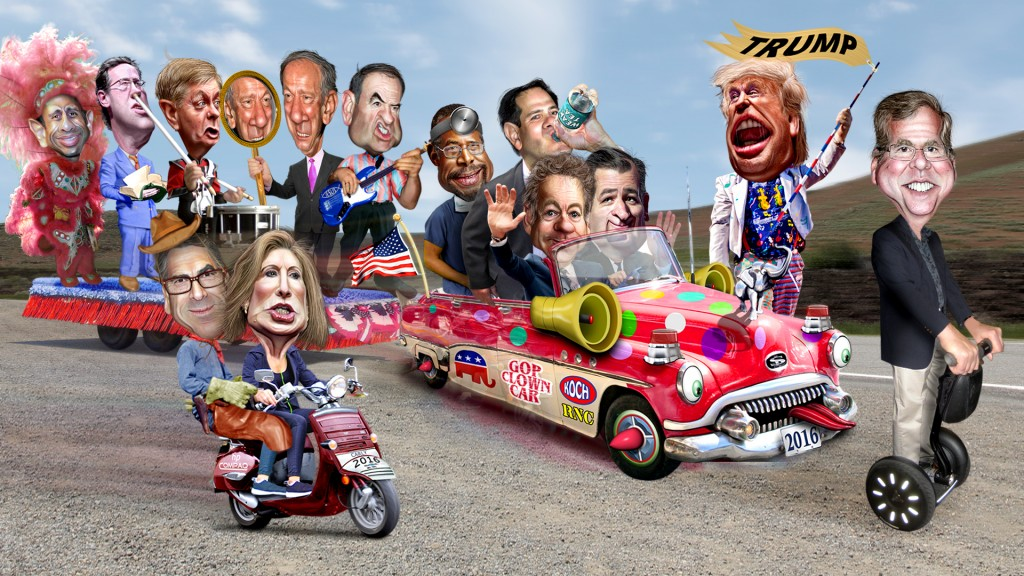 2016 republican clown car