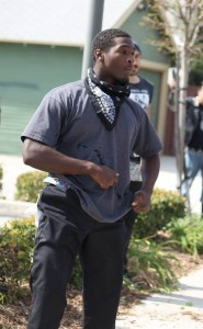 Accused assailant Marquis Turner, who witnesses say was actually pulling combatants apart and trying to keep the peace.