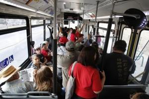 octa bus crowded