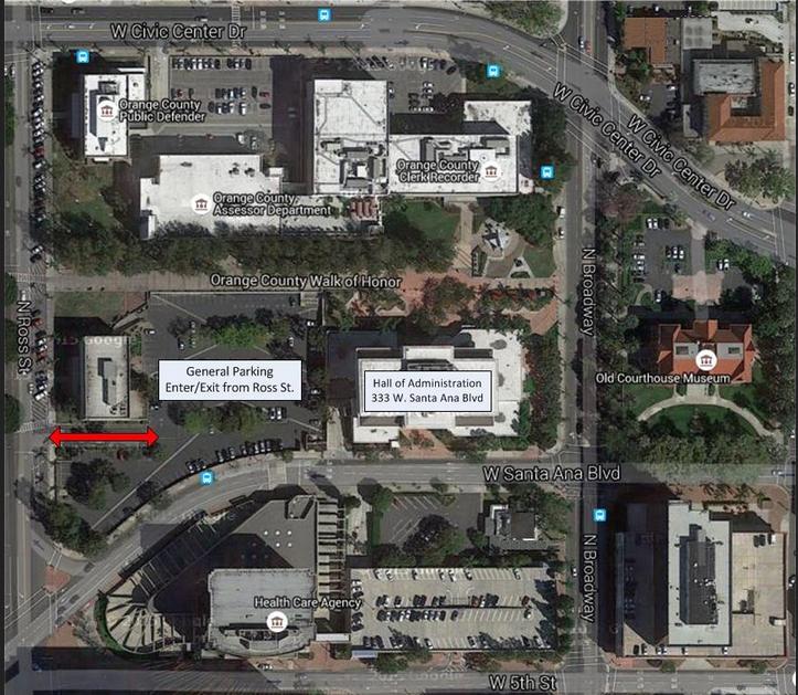 santa ana civic center map