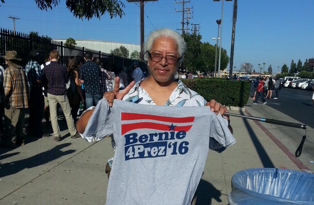 Anaheim homeless activist Lou Noble is feelin' it.