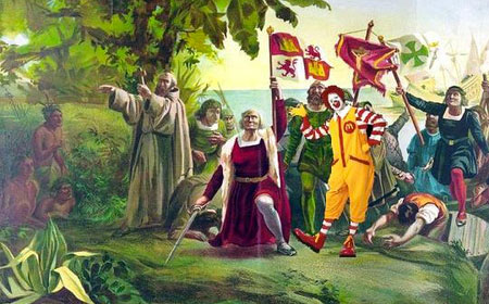 columbus and clowns