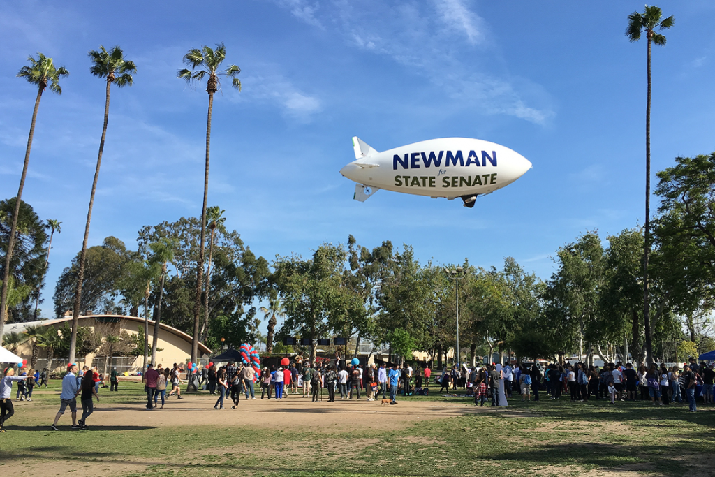 Josh's blimp hovers over Anaheim's ...