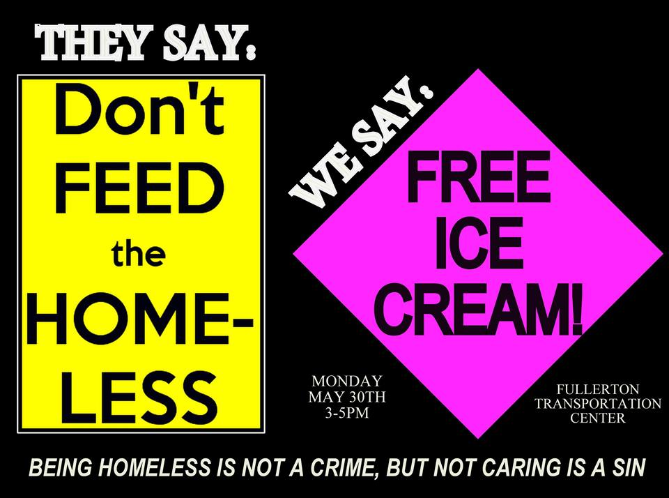 dont feed the homeless free ice cream