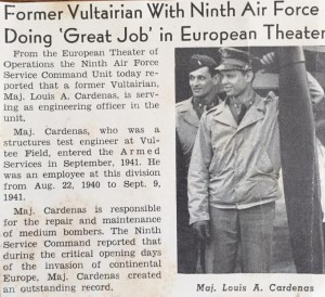 """Click for larger view of contemporary news clipping. """"Vultairian"""" referred to an employee of Vultee Aircraft."""