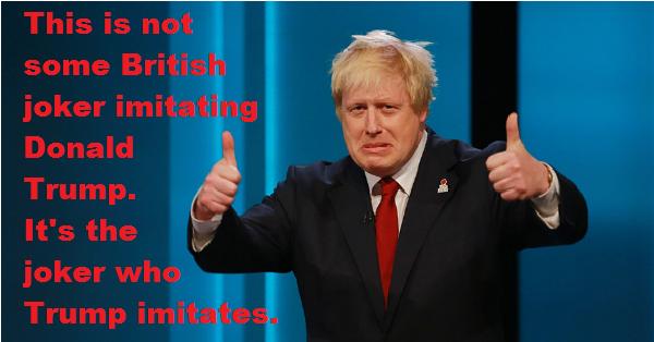 British Joker imitating Trump