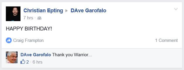 epting garofalo warrior birthday screenshot