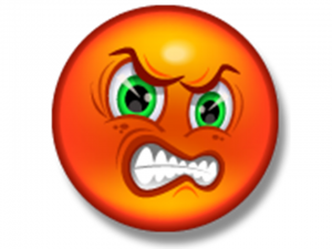 angry face clipart