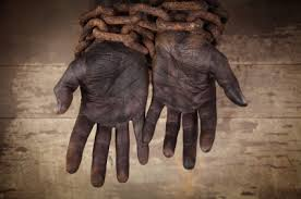 black hands in chains