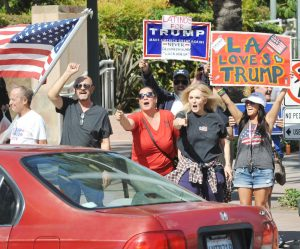 Register pic. It's unclear if LA's Dr. Estella Sneider, second from right, is one of the Trump Latinas.