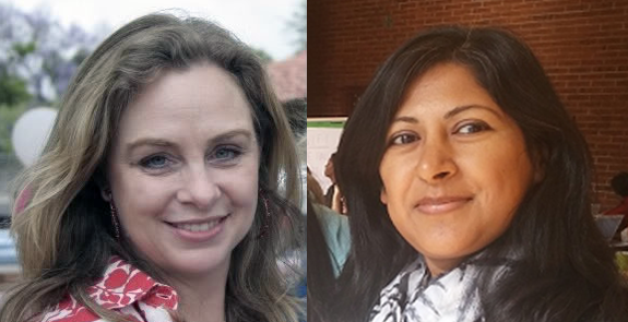 Farrah Khan and Melissa Fox. Or the reverse -- we have trouble telling them apart.