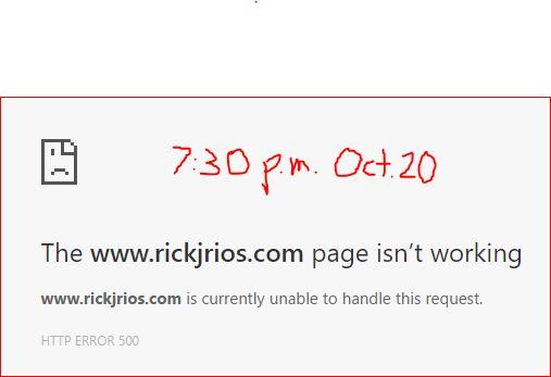 Rick Rios isn't working