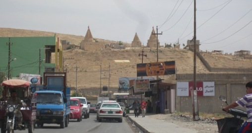 Far from Anaheim: the streets of Bashiqa.