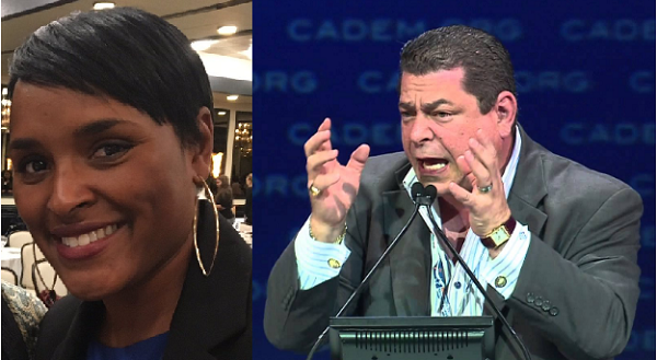 """Kimberly Ellis and Eric Bauman: can you guess which one is the """"insider"""" candidate?"""