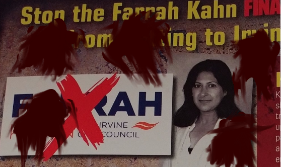 Racist jerks can throw as much mud as they'd like at Farrah Khan, but their aim usually sucks and even if it didn't the mud won't stick to her.  Who will join me in denouncing Dishonest Dave Gilliard, who also works for Ling Ling Chang, Er Royce, and Young Kim?