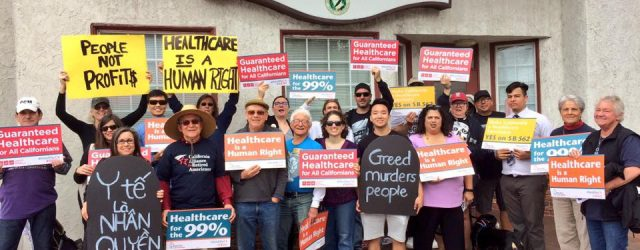 "While we were ""dying"" in front of Senator Nguyen's office, to show healthcare is a human right, we got the news that the finance study showing the feasibility of SB […]"
