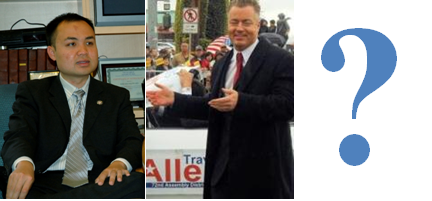 . . . SO.  Republican Assemblyman Travis Allen, of the 72nd district (northern half of HB, Westminster, Seal Beach, Fountain Valley, Los Alamitos, western Garden Grove) has today, as long […]