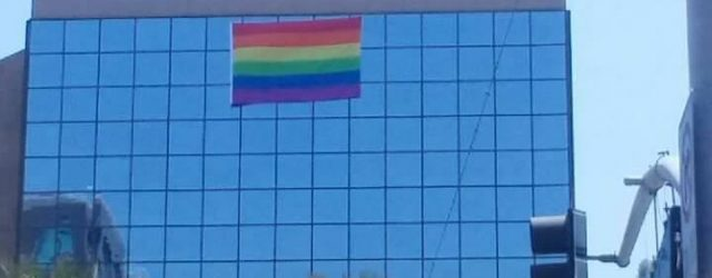 . . . Quietly, yesterday morning, this went up on City Hall's reflective front wall: And this placement of the flag, first suggested by Mark Daniels and Councilman Faessel, is […]