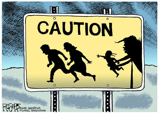 (The great cartoonist was fired for this & other Trump-critical works.)